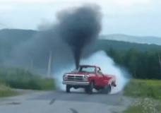 Killer Rolling Diesel Burnout